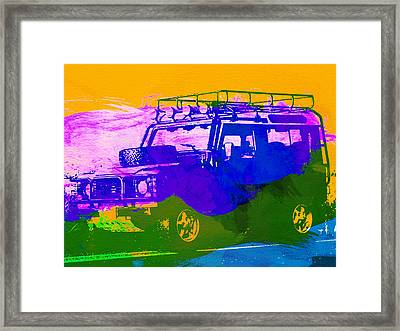 Land Rove Defender Framed Print