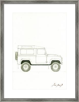 Land Rover Defender Framed Print by Juan Bosco