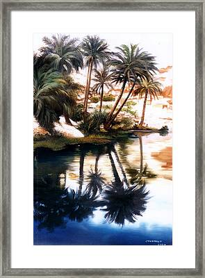 Framed Print featuring the painting Land Scape by Chonkhet Phanwichien