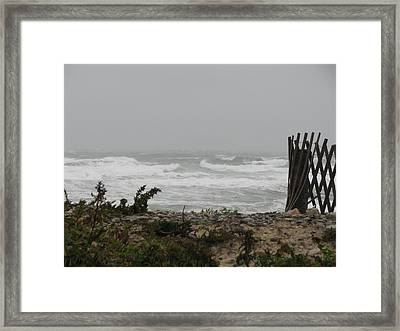 Land Vs Sea Framed Print