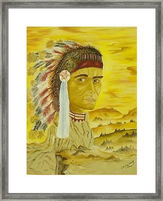 Land Warrior Framed Print by Ron Sargent