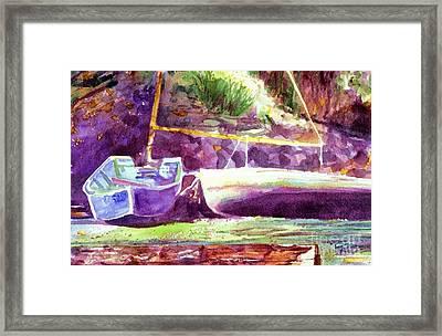 Landed Boats Framed Print
