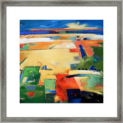 Framed Print featuring the painting Landforms, You've Never Been Here by Gary Coleman