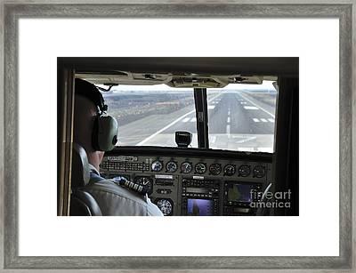 Landing At Kona Framed Print by Andy Smy