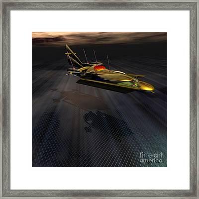 Landing At Omega 7 Framed Print by Corey Ford