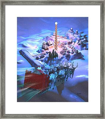 Landing At The North Pole Framed Print by Dave Luebbert