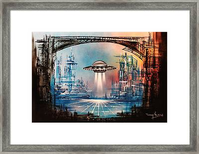 Landing Home Framed Print by Tony Vegas