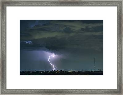 Framed Print featuring the photograph Landing In A Storm by James BO Insogna