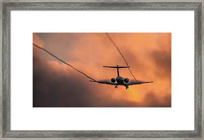 Framed Print featuring the photograph Landing In L.a. by April Reppucci