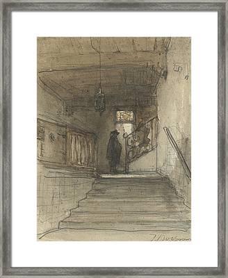 Landing Framed Print by Johannes Bosboom