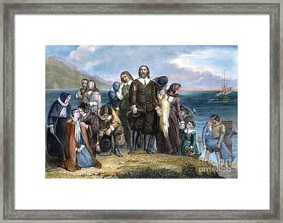 Landing Of Pilgrims, 1620 Framed Print by Granger