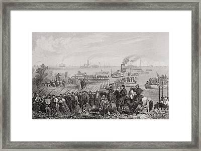Landing Of Troops On Roanoke Island Framed Print