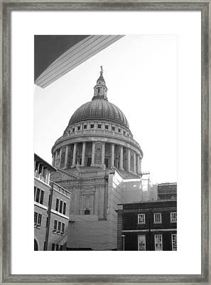 Framed Print featuring the photograph Landing On St Pauls by Jez C Self