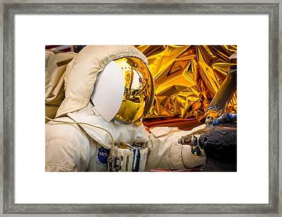 Landing On The Moon Framed Print by Steven Green