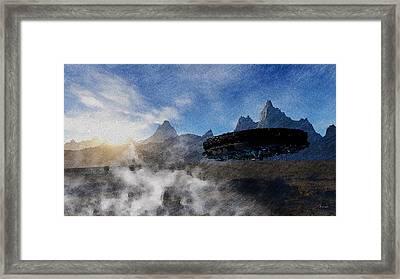 Landing Site Framed Print