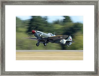Landing Spitfire Framed Print