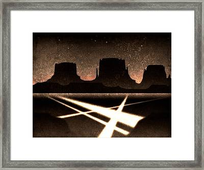 Framed Print featuring the digital art Landing Zone by Milton Thompson