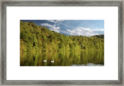 Framed Print featuring the photograph Landingville Lake Pennsylvania by David Dehner