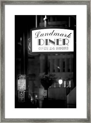 Landmark Diner Framed Print
