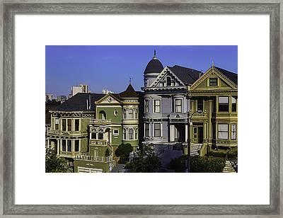 Landmark Houses Framed Print