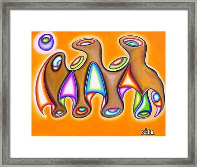 Landmass Of Orifices In Space  Framed Print by            Gillustrator