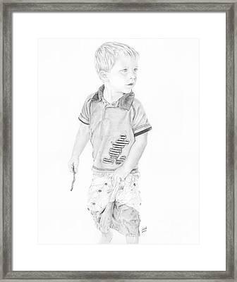 Landon Framed Print by Shevin Childers