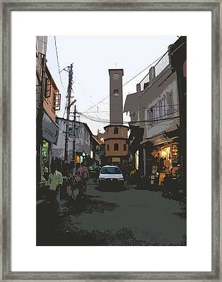 Landour Clock Tower Framed Print by Padamvir Singh