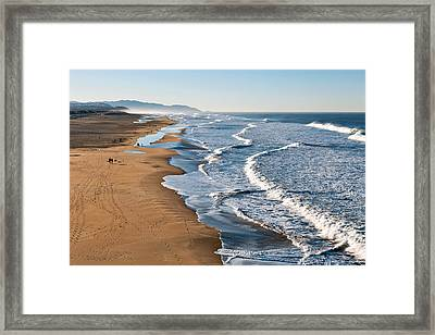 Lands End Beach Framed Print