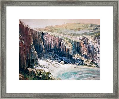 Lands End Cornwall Framed Print by Don Getz