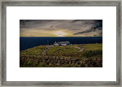 Lands End Framed Print by Martin Newman