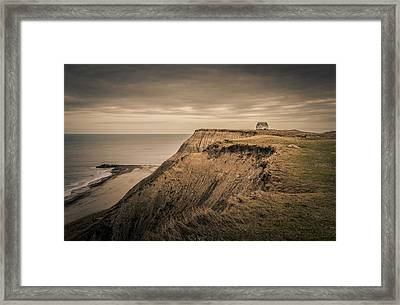 Framed Print featuring the photograph Land's End by Odd Jeppesen