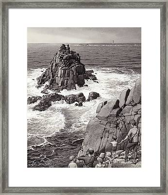 Land's End Framed Print by Pat Nicolle