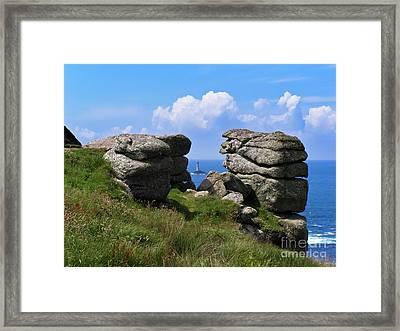 Land's End Rocks Framed Print by Terri Waters