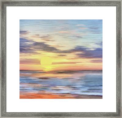 Lands Where Corals Lie Abstract Realism Framed Print
