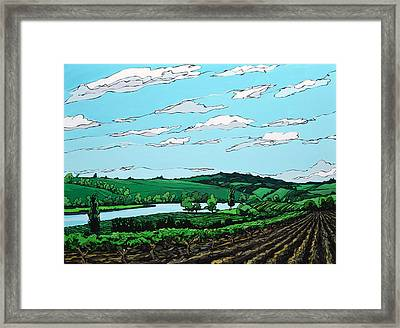 Framed Print featuring the painting Landscape 108 by John Gibbs