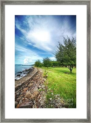 Framed Print featuring the photograph Landscape 2 by Charuhas Images