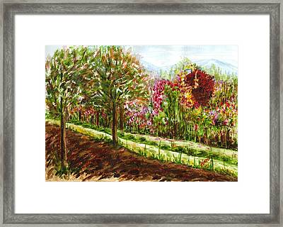 Framed Print featuring the painting Landscape 2 by Harsh Malik