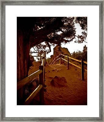 Landscape Arch 4 Framed Print