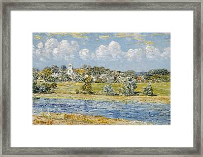 Landscape At Newfields, New Hampshire Framed Print by Childe Hassam