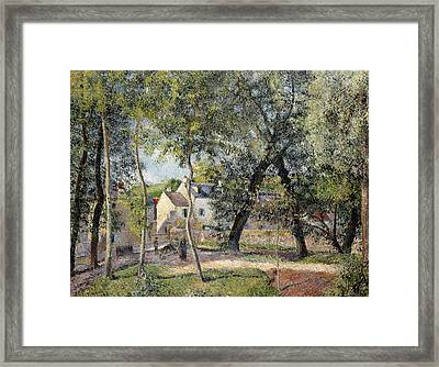Landscape At Osny Near The Drinking Trough Framed Print