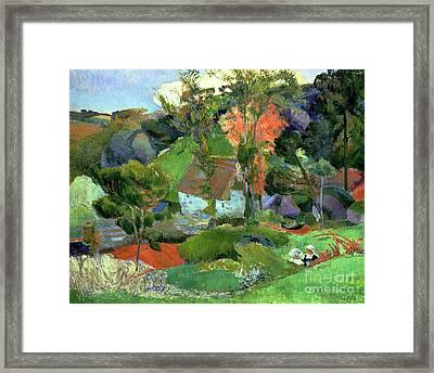 Landscape At Pont Aven Framed Print