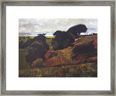 Framed Print featuring the painting Landscape At Rhug by Harry Robertson