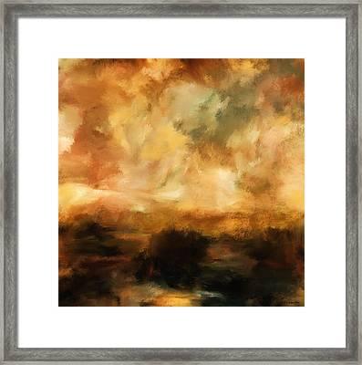 Landscape At Sunset Framed Print