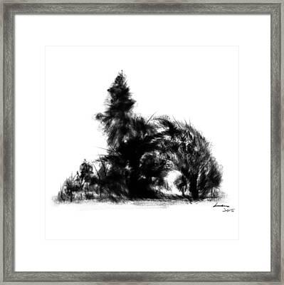 Landscape B/w 2 Framed Print