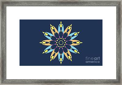 Landscape Blue Background Abstract Star Framed Print by Pablo Franchi