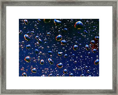 Landscape Bubbles Framed Print by Marianne Dow