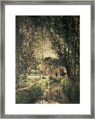 Landscape Framed Print by Charles Francois Daubigny