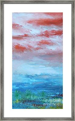 Framed Print featuring the painting Landscape El Natural by Terri Thompson