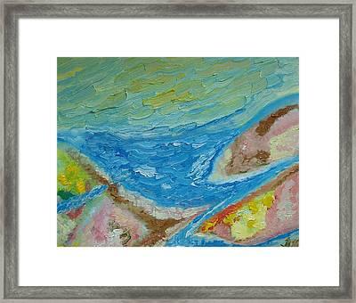 Landscape. Fantasy 12. Top View. Framed Print