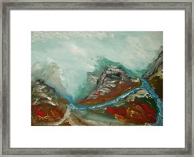Landscape. Fantasy 19-2. Framed Print